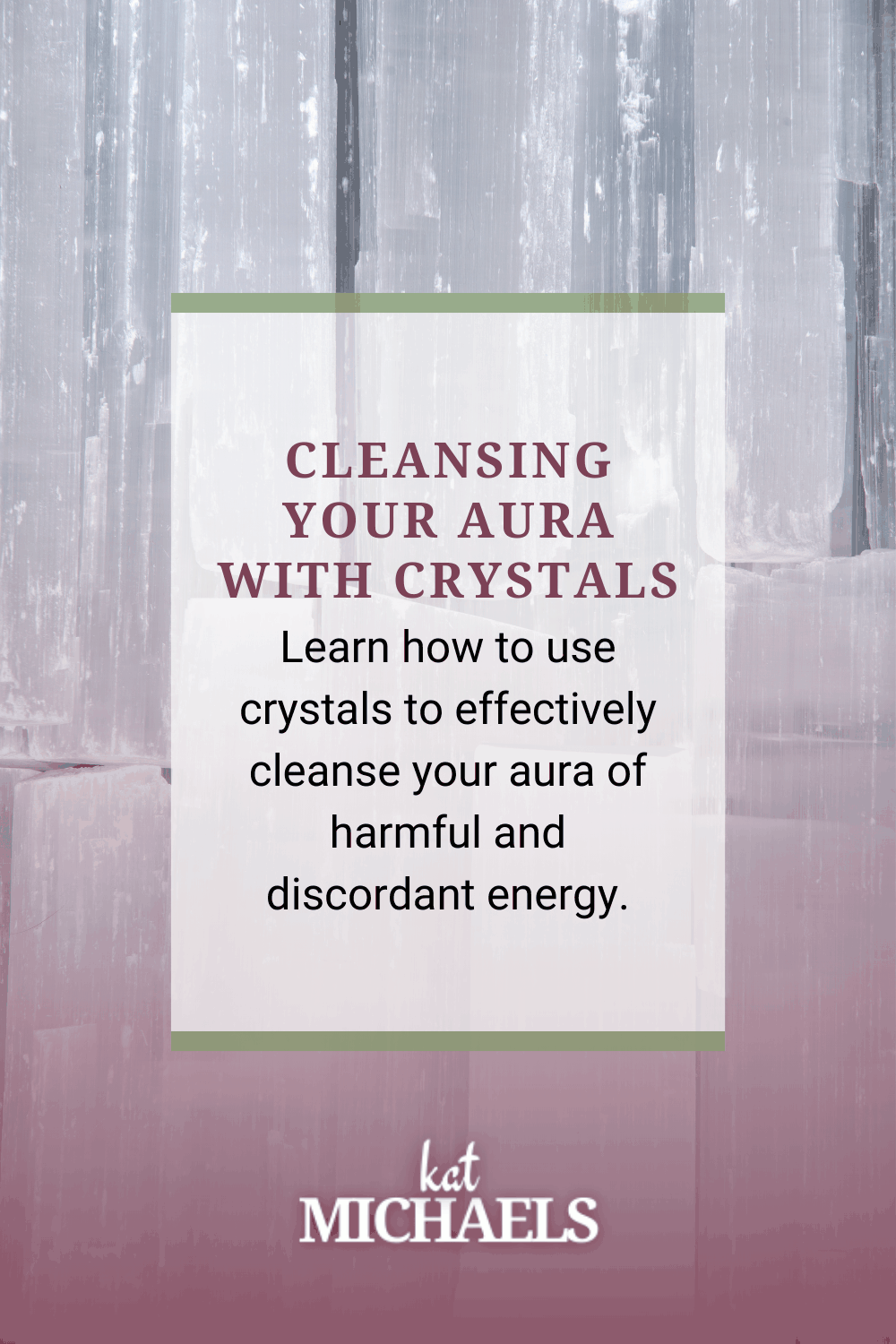 Cleansing your aura with crystals
