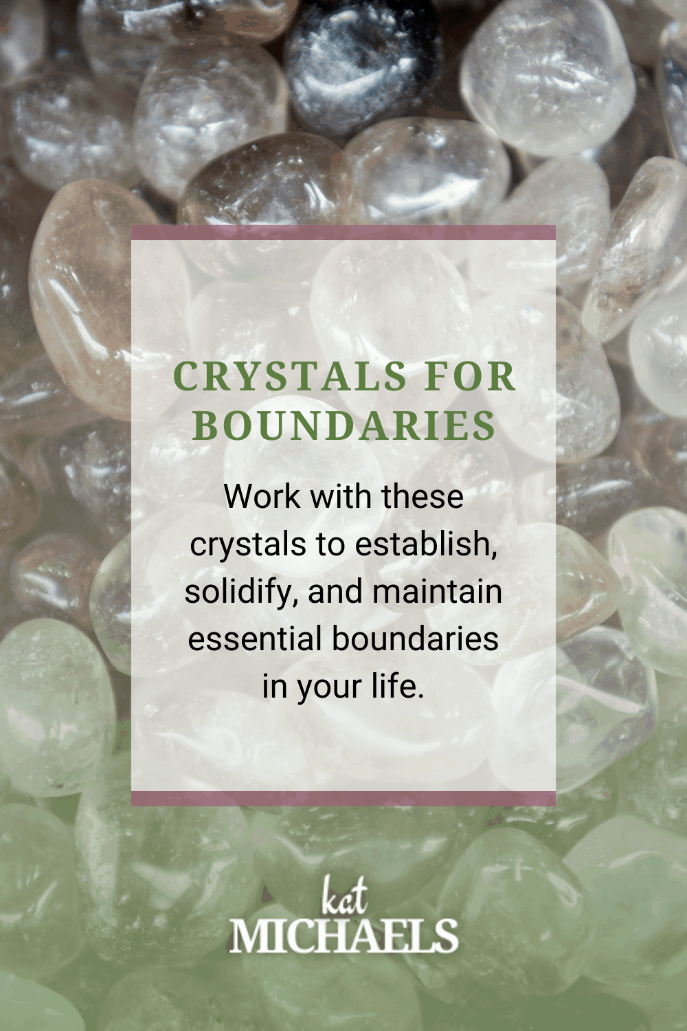 crystals for boundaries