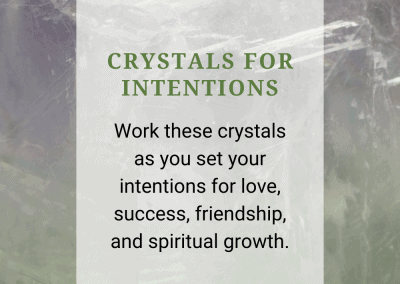 Crystals for New Intentions