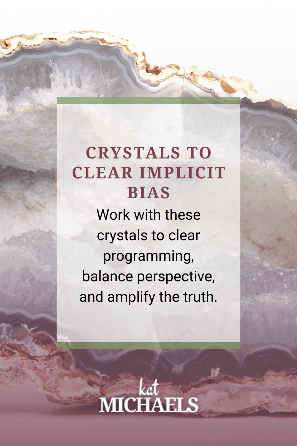 Crystals to Clear Implicit Bias