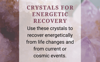 Crystals for Energetic Recovery